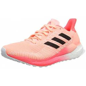 adidas Women's Solar Boost 19 Running Shoe, LTFLOR/CBLACK/SIGPNK, 4.5 UK