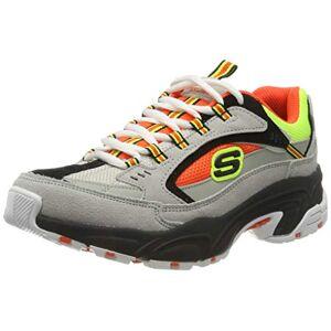 Skechers STAMINA, Women's Stamina Trainers, Grey (Gray Suede/Orange & Yellow Mesh/Black Trim Gyor), 6.5 UK (39.5 EU)
