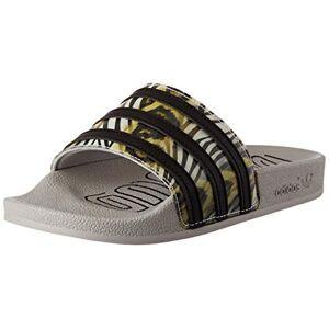 adidas Women's Adilette W Gymnastics Shoe, Core Black/Core Black/Metal Gray, 4 UK