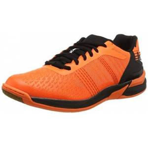 Kempa Unisex Adults Attack Three Contender Handball Shoes, Orange (Orange Frais/Noir 06), 8.5 UK
