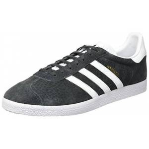 adidas Men's Gazelle Gymnastics Shoes, Grey (Solid Grey/White/Gold Metallic), 11 UK