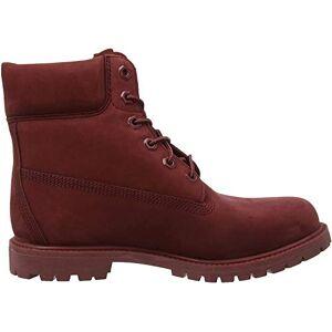 Timberland Women's 6 Inch Premium Waterproof Lace-up Boots, Red (Dark Red Nubuck), 4 UK (37 EU)