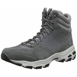 Skechers Women's D'lites - Chill Flurry Ankle boots, Grey Charcoal Suede Knit Ccl, 2.5 UK