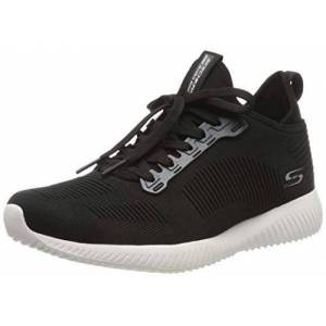Skechers BOBS SQUAD 2 - COVERT STYLE, Women's Low-Top Trainers, Black (Black Engineered Knit Blk), 7 UK (40 EU)
