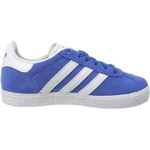 adidas Gazelle C, Unisex Kid's Sneaker, Blue/Ftwr White/Gold Met., 2.5 UK (35 EU)