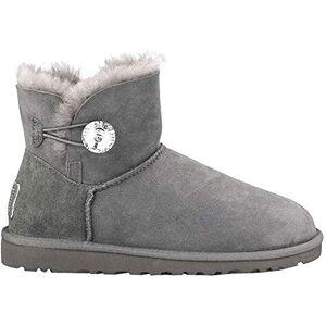 UGG Female Mini Bailey Button Bling Classic Boot, Grey, 5 (UK)