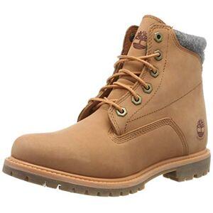 Timberland Women's Waterville 6 Inch Basic Waterproof Lace up Boots, Light Orange Nubuck, 5 UK