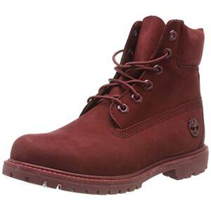 Timberland Women's 6 Inch Premium Waterproof Lace-up Boots, Red (Dark Red Nubuck), 3.5 UK (36 EU)