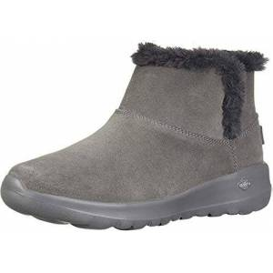 Skechers ON-THE-GO JOY - BUNDLE UP, Women's Ankle Boots, Grey (Charcoal Suede Charcoal), 3 UK (36 EU)