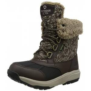 Skechers OUTDOOR ULTRA, Girl's High Boots, Brown (Chocolate Textile Chocolate), 2.5 UK (35.5 EU)