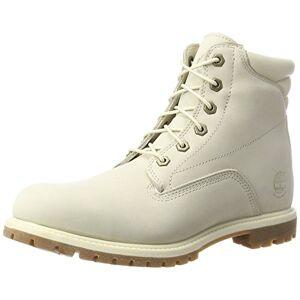 Timberland Women's Waterville 6 Inch Basic Waterproof Lace up Boots, Beige White Nubuck, 5.5 UK