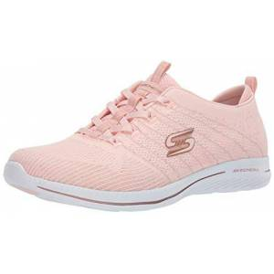 Skechers CITY PRO GLOW ON, Women's Low-Top Trainers, Pink (Light Pink & Rose Gold Knit/White Trim Lprg), 4 UK (37 EU)