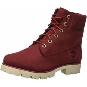 Timberland Women's Heritage Lite Ankle Boots, Red (Pomegranate Nubuck Monochromatic M49), 2 UK Child