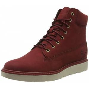 Timberland Women's Kenniston 6 Inch Lace Up Lace-up Boots, Red (Dark Red Nubuck), 6.5 UK 39.5 EU