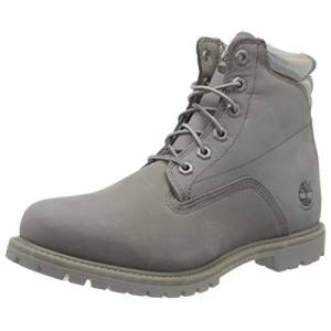 Timberland Waterville 6 Inch - Basic Waterproof, Womens Waterville, Medium Grey Nubuck, 5.5 UK (38.5 EU)