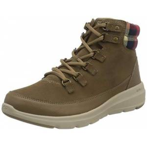 Skechers Women's Glacial Ultra-Peak Ankle Boot, Dark Taupe Suede, 4.5 UK