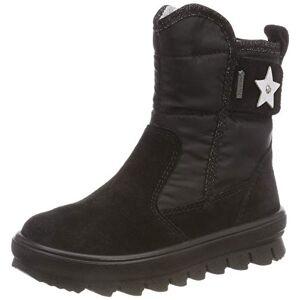 Superfit Girls' Canvas Snow Boots, Black (Schwarz 00), 10 UK Child