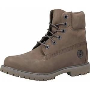 Timberland Women's 6 Inch Premium Waterproof Lace-up Boots, Grey (Medium Grey Nubuck),3.5 UK (36 EU)