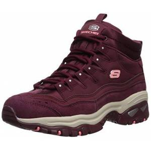 Skechers ENERGY, Women's Ankle Boots, Red (Burgundy Leather/Mesh Burgundy), 5.5 UK (38.5 EU)