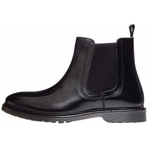 find. Leather Cleated Chelsea Boots, Black Polido), 9 UK