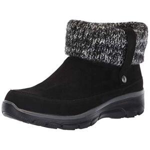 Skechers Women's Easy Going - Heighten Ankle boots, Black Black Microfiber Knit Blk, 4.5 UK
