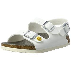 Birkenstock Milan 634880-39 Normal Footbed ESD Work Shoe Anti-Static Birko-Flor Size 39 Normal Footbed, White (White)