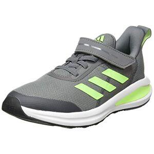 adidas FortaRun EL K, Unisex Kid's Sneaker, Gricua/Versen/Ftw Bla, 2 UK (34 EU)