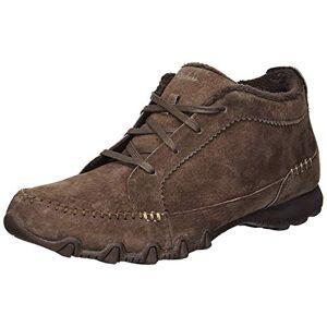 Skechers Women's Bikers-lineage Biker Boots, Brown Chocolate Suede Flash Chocolate, 2.5 UK
