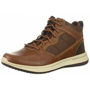 Skechers Men's Delson- Ralcon Classic Boots, Brown Brown Leather Brn, 9.5 UK