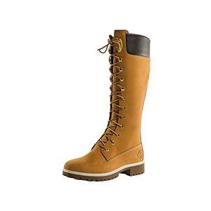 Timberland Premium 14 Inch Waterproof, Women's Combat Boots, Yellow (Wheat Nubuck), 6.5 UK (39.5 EU)