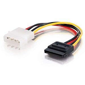 C2G 15CM Serial ATA SATA Molex Power Adapter Cable, Molex LP4 to SATA 15 Pin Adapter