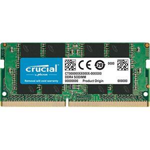 Crucial CT4G4SFS824A 4 GB (DDR4, 2400 MT/s, PC4-19200, Single Rank x8, SODIMM, 260-Pin) Memory, Green