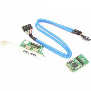 Cablematic Mini PCIe Adapter with 2 USB 3.0 port