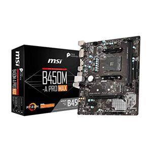 MSI B450M-A PRO MAX Motherboard mATX, AM4, DDR4, LAN, USB 3.2 Gen1, M.2, DVI-D, HDMI, AMD RYZEN 1st, 2nd and 3rd Gen Ready
