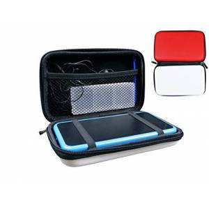 Subsonic Case for Nintendo New 2Ds Xl and New 3Ds Xl/Hard and Shock-Proof Storage Systems and Accessories, Red and White Bag