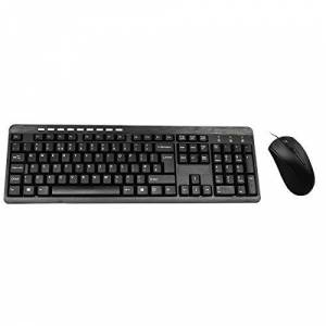 CiT Wired USB Keyboard & Mouse Combo, Ergonomic Design, UK Qwerty Layout, Windows Compatible, Plug and Play Technology, 105 Keys & 9 Multimedia Keys Black KBMS-BUILDER