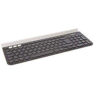 Logitech K780 Multi-Device Wireless Keyboard, QWERTZ German Layout - Dark Grey/White