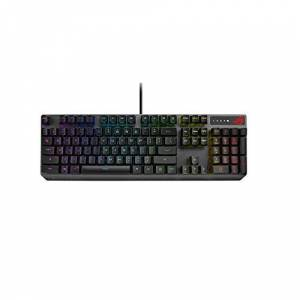 Asus ROG Strix Scope RX optical RGB gaming keyboard for FPS gamers, with ROG RX Optical Mechanical Switches, all-round Aura Sync RGB illumination, IP56 water and dust resistance, USB 2.0 passthrough