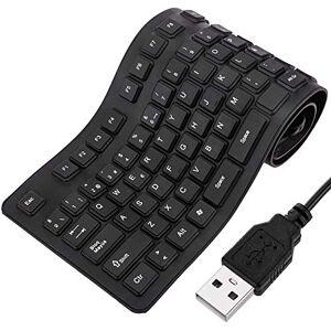 BEMATIK.COM BeMatik - Flexible Keyboard 109 USB black keys