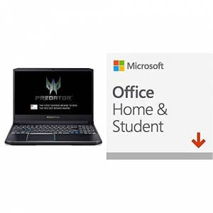 Acer Predator Helios 300 PH315-52 15.6-inch Gaming Laptop, Windows 10, Black + Microsoft Office Home and Student 2019
