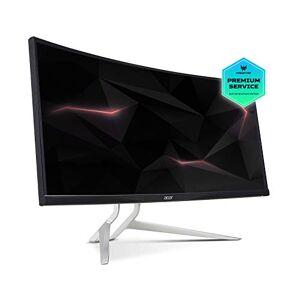 Acer XR382CQKbmijqphuzx 37.5 Inch WQHD Curved 2300R Gaming Monitor, Black (IPS Panel, FreeSync, 1ms, HDR Ready, ZeroFrame, DP, HDMI, USB Hub, Height Adjustable Stand)