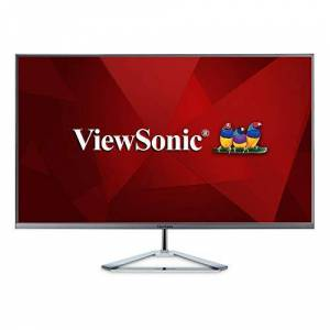 ViewSonic VX3276-2K-MHD 32 Inch IPS WQHD Monitor with 99% sRGB, 2x HDMI, DisplayPort, Mini DisplayPort, Eye Care for Work and Entertainment at Home