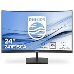 "Philips 241E1SCA 23.6"" Widescreen VA W-LED Black Curved Monitor (1920x1080/4MS/VGA/HDMI) intergrated Spaekers"