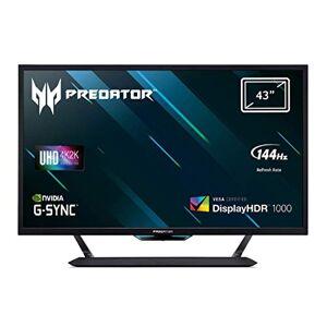 Acer Predator CG437KP 43 inch UHD Gaming Monitor, Black (VA Panel, G-Sync Compatible / Adaptive Sync, 120 Hz (144 Hz OC), 1ms, HDR 1000, DP, HDMI, USB Hub)