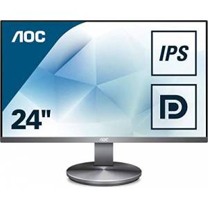"AOC I2490VXQ/BT 23.8"" Widescreen IPS LED Gunmetal Multimedia Monitor (1920x1080/4ms/VGA/HDMI/DP)"