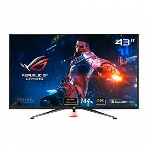 Asus ROG Swift PG43UQ DSC Gaming Monitor 43-inch 4K UHD (3840 x 2160), 144Hz, G-Sync, DSC, DisplayHDR 1000, DCI-P3 90%, Shadow Boost