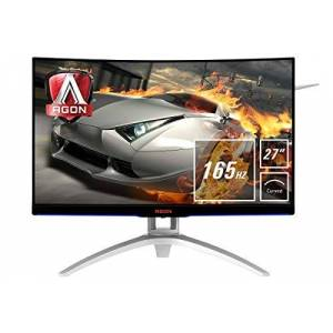 """AOC e AOC AGON AG272FCX6 is a 27"""" Full HD curved gaming monitor with 16:9 aspect ratio, 1800 mm curvature and 3-sided frameless"""" design. 165Hz and Adaptive-Sync technology guarantee smooth gameplay."""