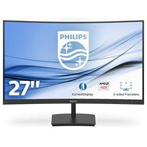 "Philips E-line 271E1SCA - LED monitor - curved - 27"" - 1920 x 1080 Full HD (1080p) - VA - 250 cd/m - 3000:1-4 ms - HDMI, VGA - speakers - textured black"