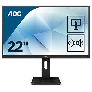 """AOC 22P1 21.5"""" 1920 x 1080 Hd Monitor (HDMI 1.4 x 1, DisplayPort 1.2 x 1, VGA, DVI) - Intergrated speakers, height adjust stand"""