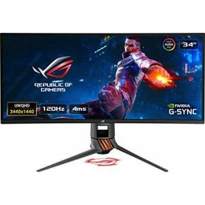 Asus ROG SWIFT Curved PG349Q, 34 Inch UWQHD (3440 x 1440) Gaming Monitor, IPS, Up to 120 Hz, DP, HDMI, USB 3.0, G-SYNC, AuraSync